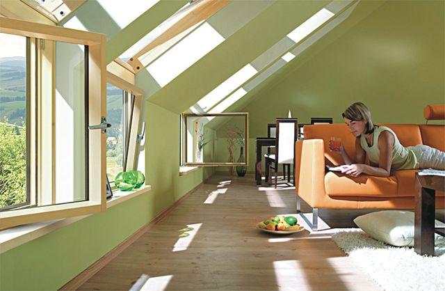 Des fenêtres de toit pour agrandir l'espace